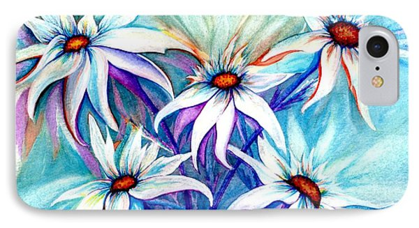 Shasta Daisy Dance IPhone Case by Janine Riley