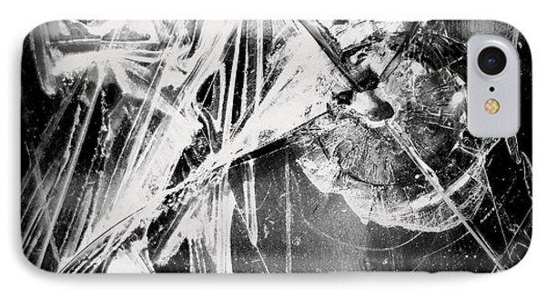 IPhone Case featuring the photograph Shatter - Black And White by Joseph Skompski
