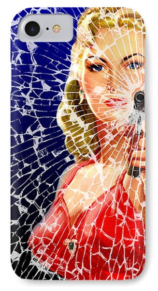 IPhone Case featuring the digital art Shattered by Sasha Keen