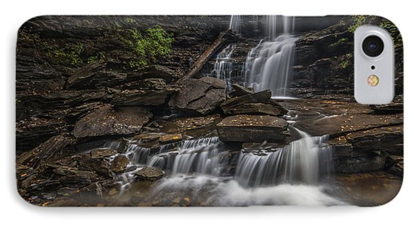 IPhone Case featuring the photograph Shawnee Falls by Roman Kurywczak
