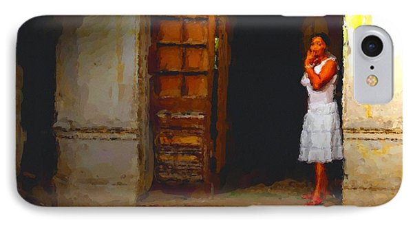 IPhone Case featuring the digital art She Beckons by Dennis Lundell