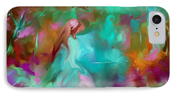 IPhone Case featuring the painting She Finds Her Peace by Steven Lebron Langston