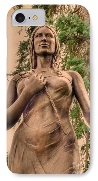 She Holds Her Cross Phone Case by Kathleen Struckle