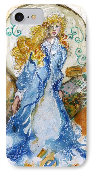 She  Loves The Sea IPhone Case by P Maure Bausch