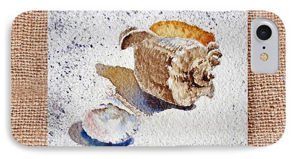 She Sells Sea Shells Decorative Collage Phone Case by Irina Sztukowski