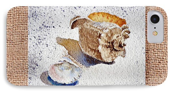 She Sells Sea Shells Decorative Collage IPhone Case by Irina Sztukowski