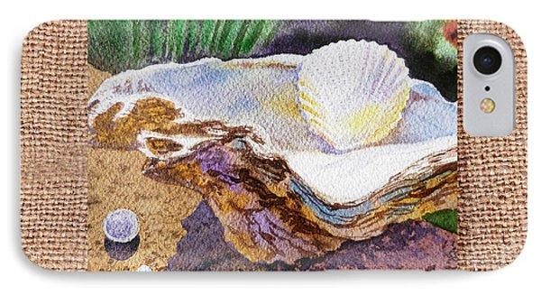 She Sells Sea Shells Decorative Design Phone Case by Irina Sztukowski