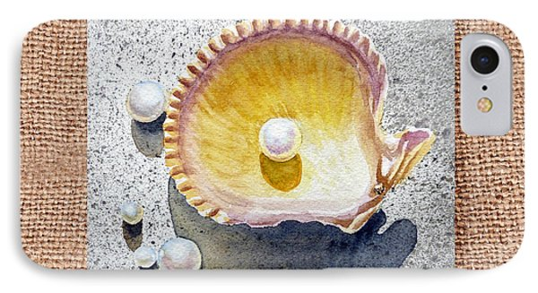 She Sells Seashells Decorative Collage IPhone Case by Irina Sztukowski