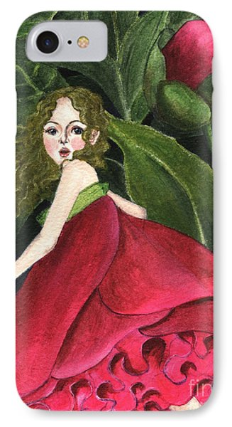 IPhone Case featuring the painting She Stole A Peony To Wear by Jingfen Hwu