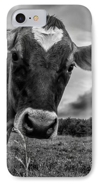 Cow iPhone 7 Case - She Wears Her Heart For All To See by Bob Orsillo