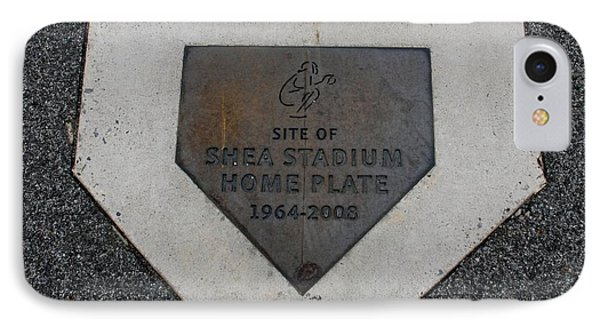 Shea Stadium Home Plate Phone Case by Rob Hans