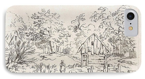 Shed Near The Water, Print Maker Anonymous IPhone Case