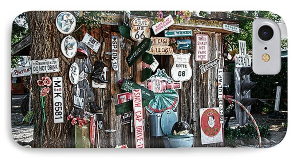 Shed Toilet Bowls And Plaques In Seligman Phone Case by RicardMN Photography