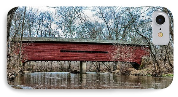 Sheeder - Hall - Covered Bridge Chester County Pa IPhone Case by Bill Cannon
