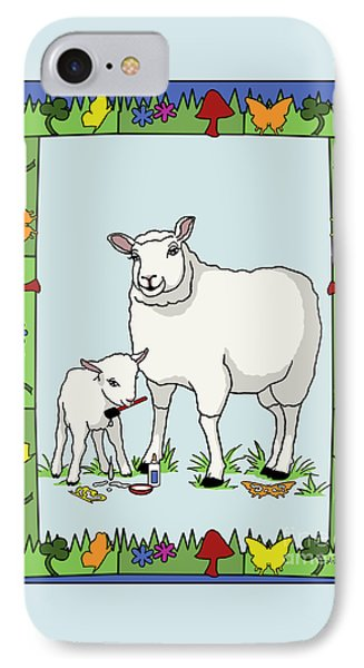 Sheep Artist Sheep Art II Phone Case by Audra D Lemke