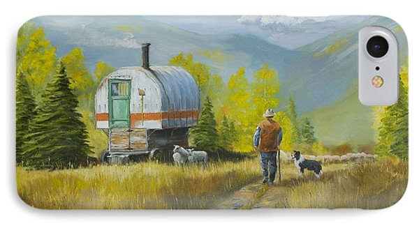 Sheep Camp Phone Case by Jerry McElroy