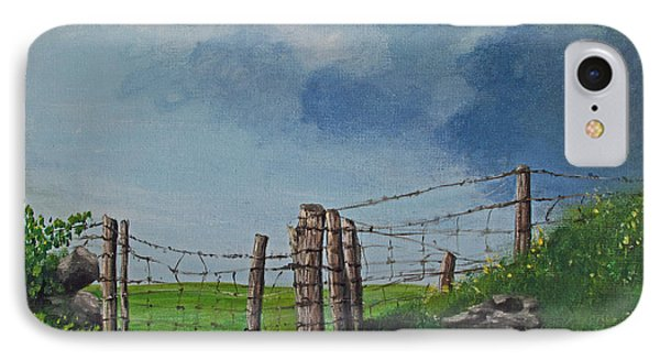 Sheep Field Phone Case by Barbara McDevitt