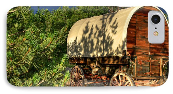 Sheep Herder's Wagon IPhone Case by Donna Kennedy