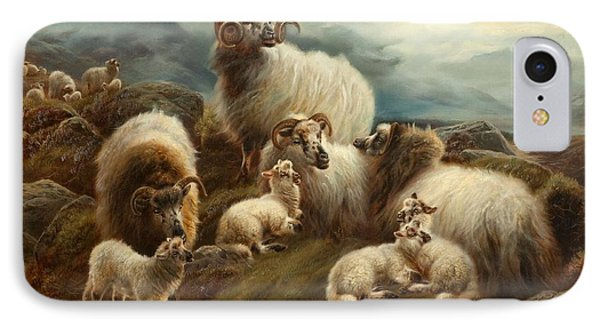Sheep In A Landscape, 1894 IPhone Case by Robert Watson