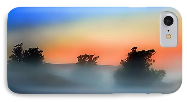 Sheep In The Early Morning Fog IPhone Case by Wernher Krutein
