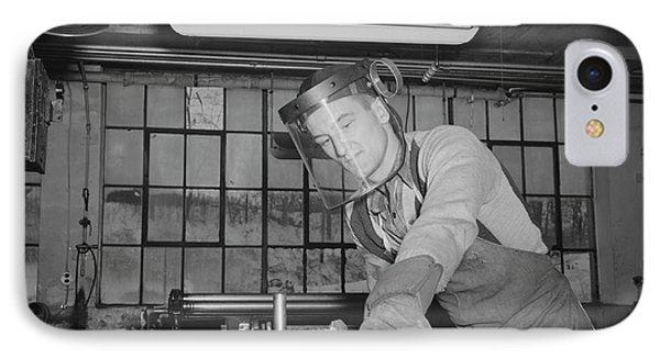 Sheet Metal Foreman Making Vital Parts IPhone Case by Stocktrek Images