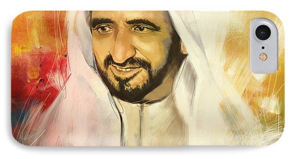 Sheikh Rashid Bin Saeed Al Maktoum IPhone Case by Corporate Art Task Force