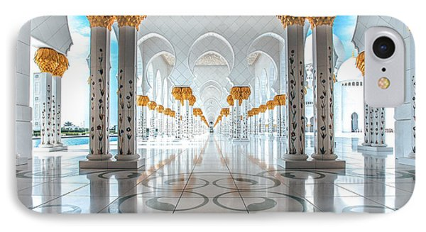 Sheikh Zayed Grand Mosque IPhone Case by Robert  Aycock