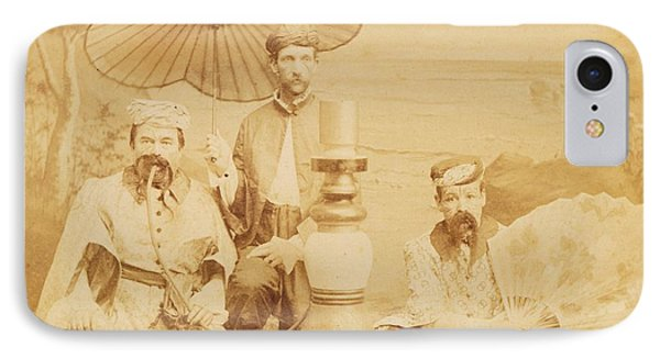 IPhone Case featuring the photograph Sheiks by Paul Ashby Antique Image