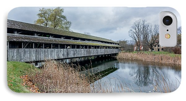 Shelburne Covered Bridge IPhone Case by Jeremy Farnsworth