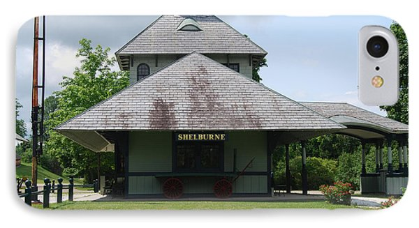 IPhone Case featuring the photograph Shelburne Depot by Caroline Stella