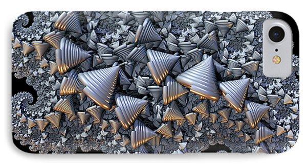 IPhone Case featuring the digital art Shell Amoeba by Manny Lorenzo