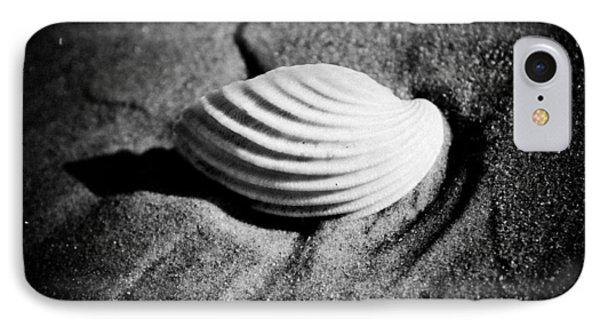 Shell On Sand Black And White Photo Phone Case by Raimond Klavins
