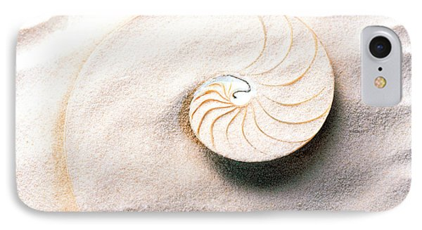 Shell Spiraling Into Wavy Sand Pattern IPhone Case