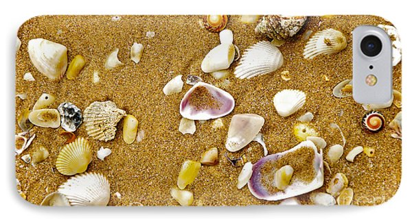 Shells In The Sand Phone Case by Kaye Menner