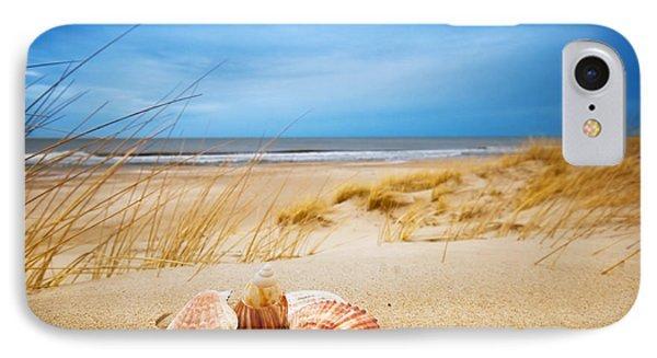 Shells On Sand Phone Case by Michal Bednarek