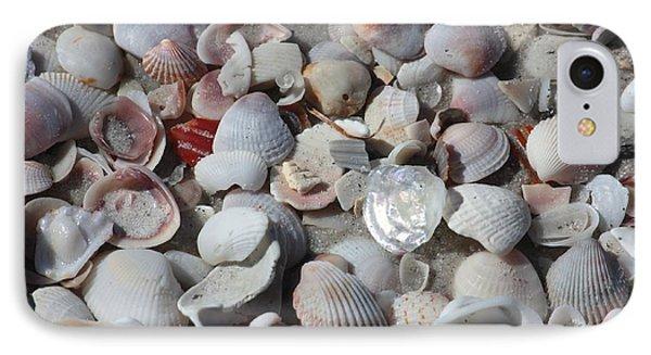 Shells On Treasure Island IPhone Case by Carol Groenen