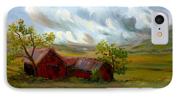 IPhone Case featuring the painting Shelter From The Storm by Meaghan Troup