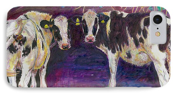 Sheltering Cows IPhone Case by Helen White