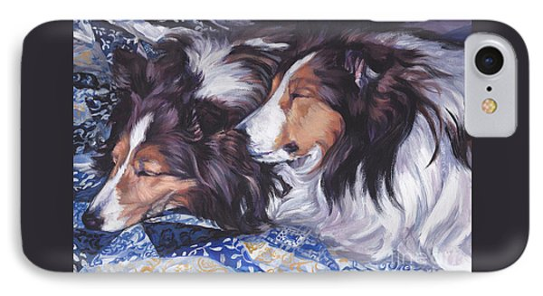 Sheltie Love IPhone Case by Lee Ann Shepard
