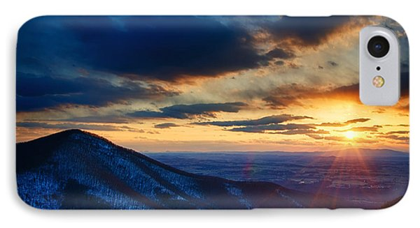 Shenandoah Sunset Phone Case by Joan Carroll