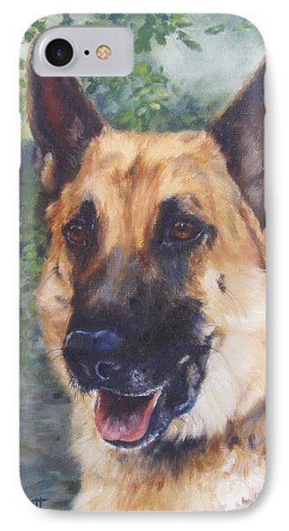 IPhone Case featuring the painting Shep by Lori Brackett