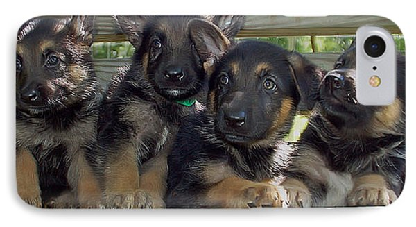 Shepherd Pups 2 Phone Case by Aimee L Maher Photography and Art Visit ALMGallerydotcom