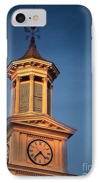 Shepherd University - Mcmurran Clock Tower At Twilight Phone Case by Julia Springer