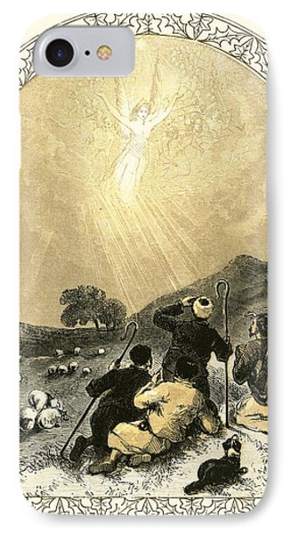 Shepherds And Angel IPhone Case by Miles Birkett Foster