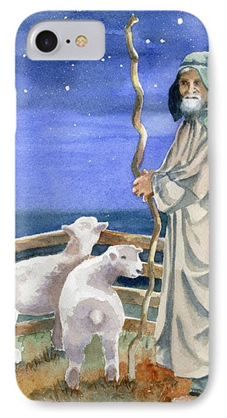 Sheep iPhone 7 Case - Shepherds Watched Their Flocks By Night by Marsha Elliott