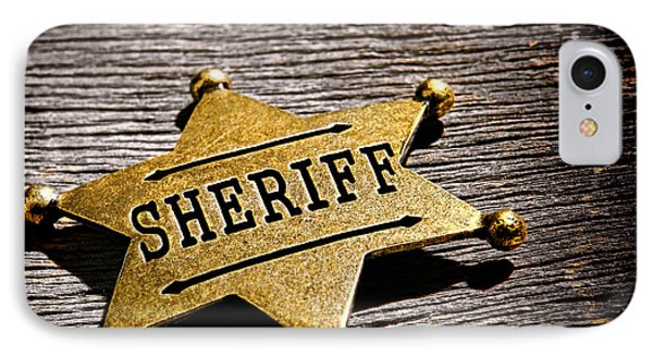 Sheriff Badge IPhone Case by Olivier Le Queinec