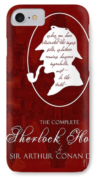 Sherlock Holmes Book Cover Poster Art 1 IPhone Case by Nishanth Gopinathan