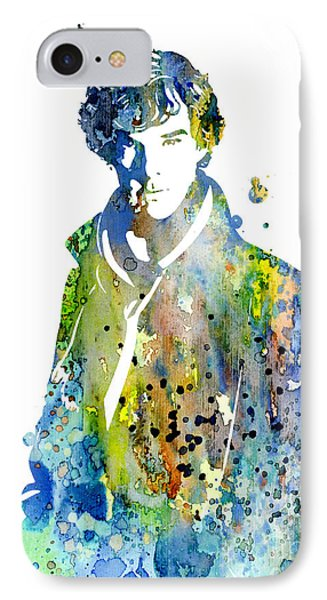 Sherlock Holmes IPhone Case by Watercolor Girl