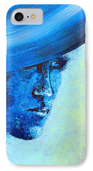 Shi Di Has The Blues Poster Phone Case by Alys Caviness-Gober