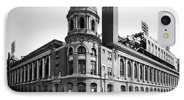 Shibe Park In Black And White IPhone Case by Bill Cannon